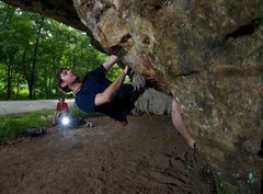 Rock Climbing Photo: This is me bouldering at the Painted Cave