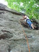 Rock Climbing Photo: second ascent
