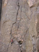 Rock Climbing Photo: As for me, I'm damn warm.  Hmmm, only half way the...