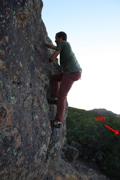 Rock Climbing Photo: lap crack