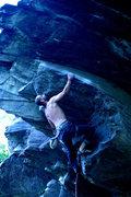 Rock Climbing Photo: Jakob working the big sloper...