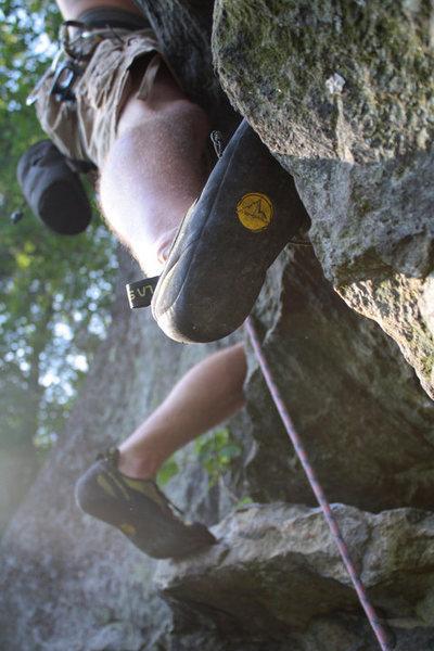 Rock Climbing Photo: kevins new lasportiva add :P