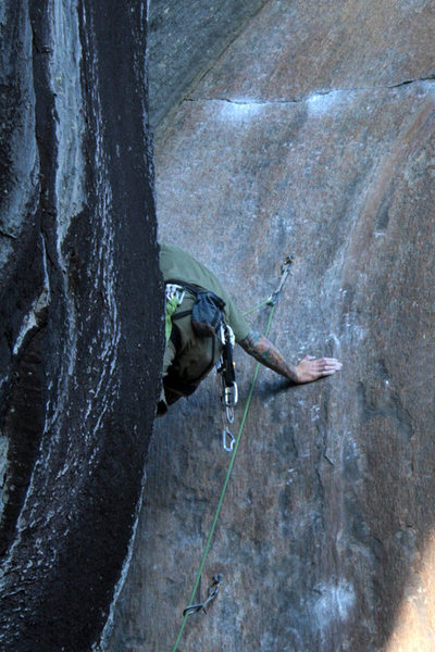 Rock Climbing Photo: me workin the corner...  photo by jakob, edited by...