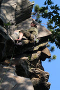 Rock Climbing Photo: me about to top out...  photo by jakob, edited by ...