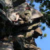 me about to top out...<br> <br> photo by jakob, edited by me...