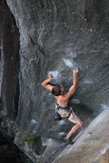 Rock Climbing Photo: kevin... flashing this tricky line...