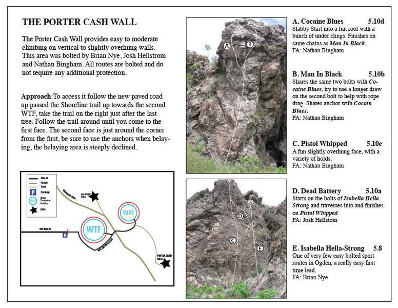 Rock Climbing Photo: I made a quick guide sheet to help