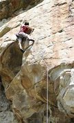 Rock Climbing Photo: Pulling the crux on Gemini