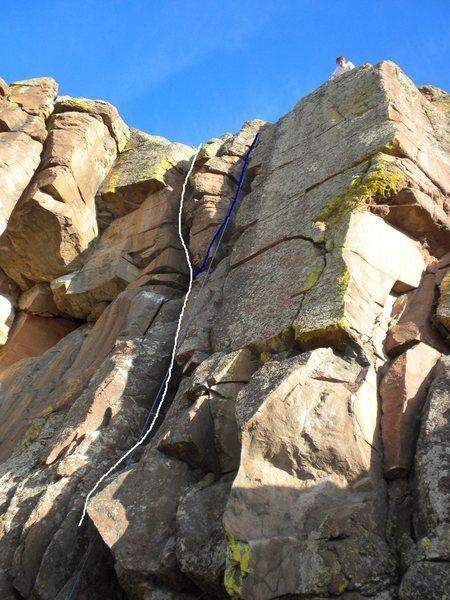 Rock Climbing Photo: White - Boobalaty Blue - Boobalaty (variation).