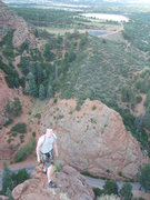 """Rock Climbing Photo: On top of """"Army Route"""""""