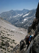 Rock Climbing Photo: Descending to Contact Pass