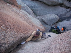 Rock Climbing Photo: Looking down on Lower Progressive.