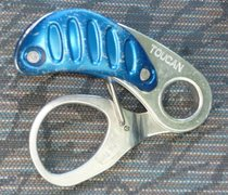 Rock Climbing Photo: This is a novel auto blocking belay device.  I thi...
