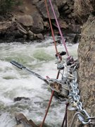 Rock Climbing Photo: The come-a-long in action. These are great for the...