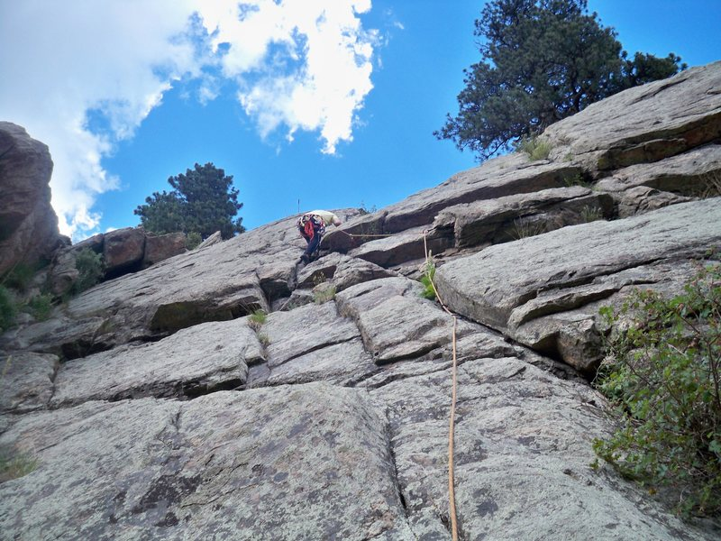 Rock Climbing Photo: This is the view from the belayer looking up.