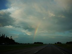 Rock Climbing Photo: Rainbow on the long drive back to Madison.
