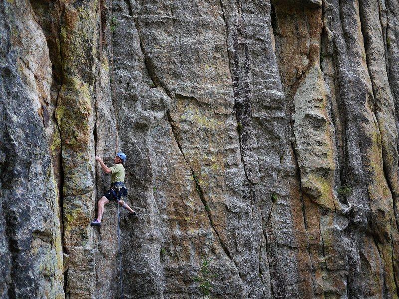 Rock Climbing Photo: Jay, on G.O.D.