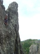 Rock Climbing Photo: Another of Steve on pitch 2.