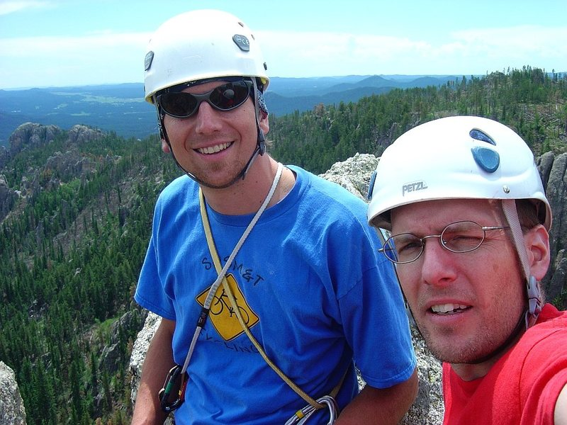 Aaron and I at the top.