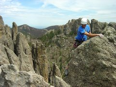 Rock Climbing Photo: Looking for the summit register (hint: it's on the...