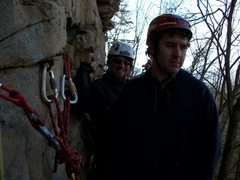 "Rock Climbing Photo: jon and john pitch two ""2 pitch not 2 pac&quo..."