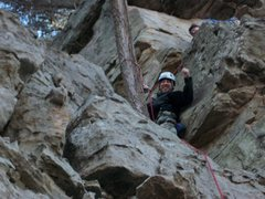 "Rock Climbing Photo: jon at the belay station on ""2 pitch not 2 pa..."