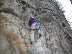 "Rock Climbing Photo: john wilson on the first pitch of ""2 pitch no..."