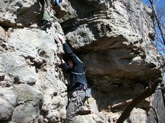 Rock Climbing Photo: ashley holmes t.r. last of a long line