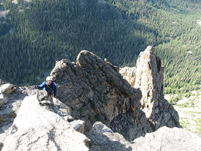 Rock Climbing Photo: Looking back down the ridge from the summit of Eas...