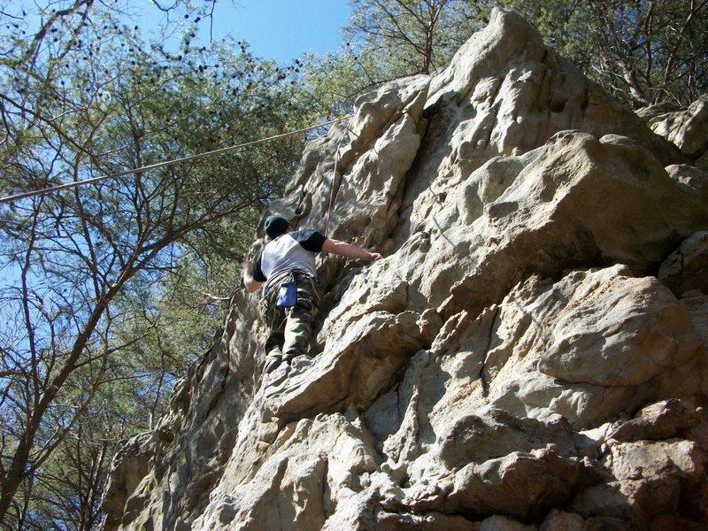 "Rock Climbing Photo: jon mitchell on ""last of a long line"""