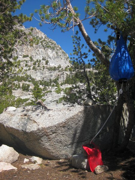 Taken July 13th, 2010 at our bivy site at upper Lamarck Lake in the high Sierra.