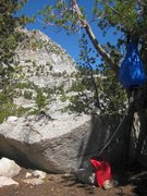 Rock Climbing Photo: Taken July 13th, 2010 at our bivy site at upper La...