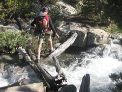 Rock Climbing Photo: Jonny on one of the fun creek crossings on our way...