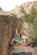 Rock Climbing Photo: practicing my dynos at Monster's Island. (photo: r...