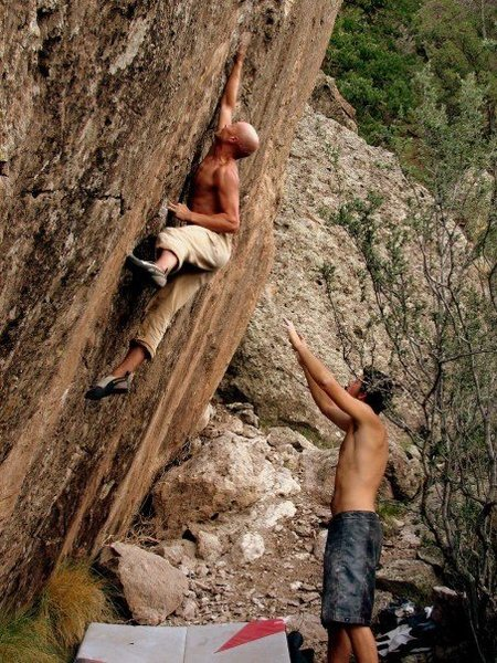 Rock Climbing Photo: robert slingsby sending Center Frankenstein at Mon...