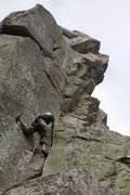 Rock Climbing Photo: catching a nice stem while enjoying the sweet spli...