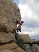 Rock Climbing Photo: Joan Bertini leading Armed and Ready