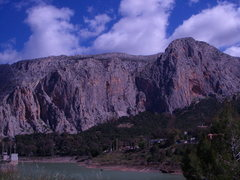 Rock Climbing Photo: A view of Las Frontales from the southern end of t...