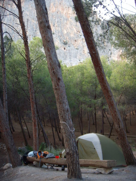 A shot from the campground, notice zones las frontales through the trees.