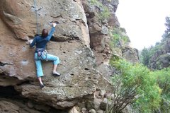 Rock Climbing Photo: Climbing at Arico, Arriba sector.  Unknown V.