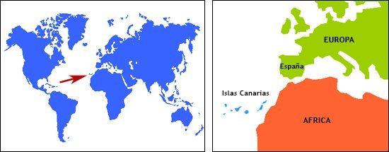 Las Canarias estas aqui.