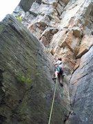 Rock Climbing Photo: Andy Bennett on the beginning of Credibility Gap -...