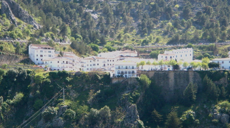 Grazalema town.  The majority of the climbing is just out of the photo to the left.