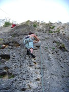 Rock Climbing Photo: Mi chica escalando Cacique.