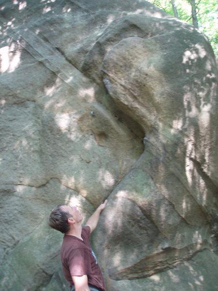 Rock Climbing Photo: eyeing the start