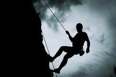 Rock Climbing Photo: Coming off Air