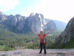 Rock Climbing Photo: Hurray Yosemite!