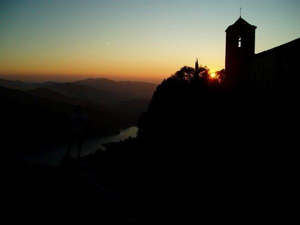 Rock Climbing Photo: Sunset looking toward town.