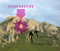 Rock Climbing Photo: Crosswinds is below the Upper Great Face, and Nort...