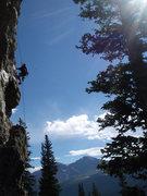 Rock Climbing Photo: Beautiful day, bolting 'Grippin the Cutlass'.